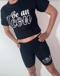 Be an Icon Cropped T-Shirt