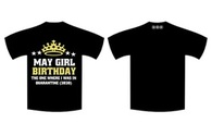 May Birthday - Full T-Shirt GIRLS