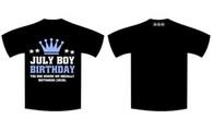 Lockdown Birthday Full T-Shirt - JULY BOYS