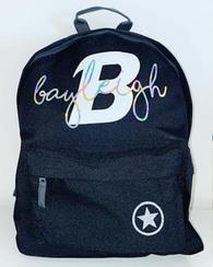 Custom YOUR NAME - Back Pack - Black