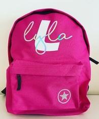 Custom YOUR NAME - Back Pack - Dark Pink