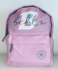 Custom YOUR NAME - Back Pack - Light Pink