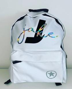 Custom YOUR NAME - Back Pack - White