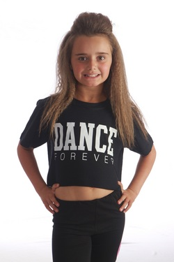 Kids Dance Forever Cropped Tee - Black
