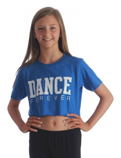 Adults Dance Forever Cropped Tee - Blue
