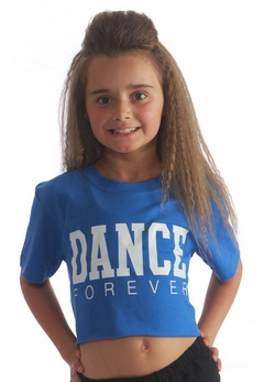 Kids Dance Forever Cropped Tee- Blue
