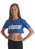 Adults Blue Hashtag Dancer cropped Tee