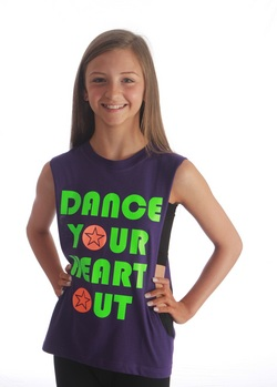 Adults Dance Your Heart Out Sleeveless Tee - Purple