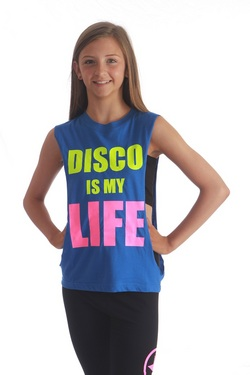 Adults Disco is my Life tee - Blue