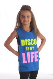 Disco is my Life sleeveless - Blue