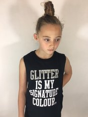Glitter is my Signature colour Sleeveless T-Shirt - Black