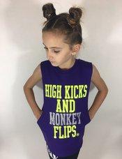 High Kicks and Monkey Flips Sleeveless T-Shirt